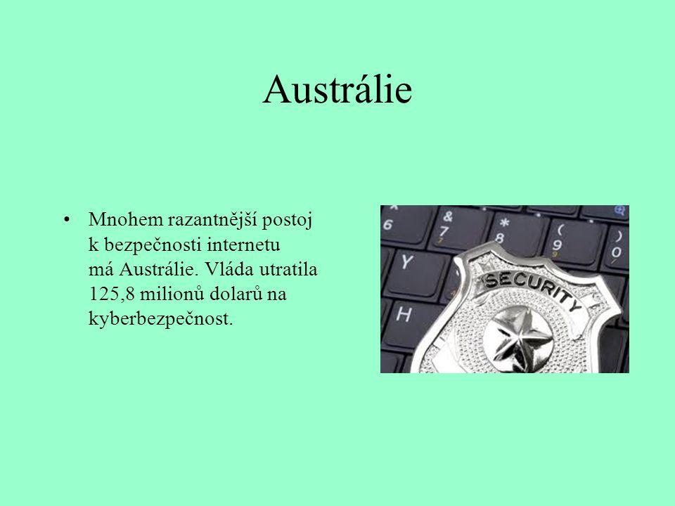 Austrálie Mnohem razantnější postoj k bezpečnosti internetu má Austrálie.