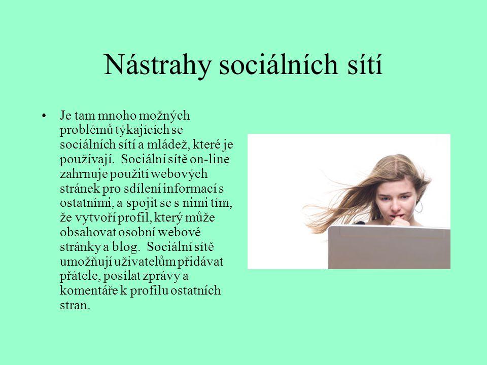 Nástrahy sociálních sítí