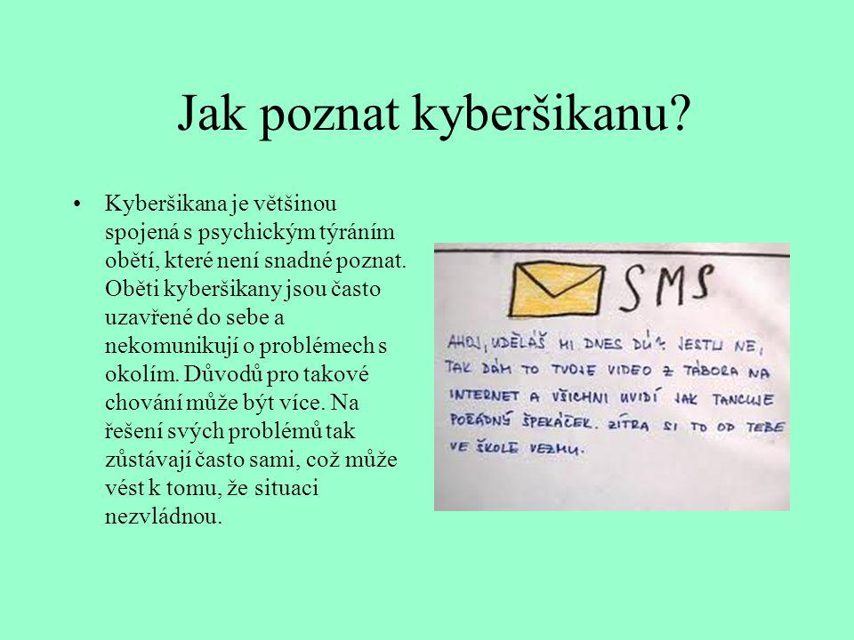 Jak poznat kyberšikanu