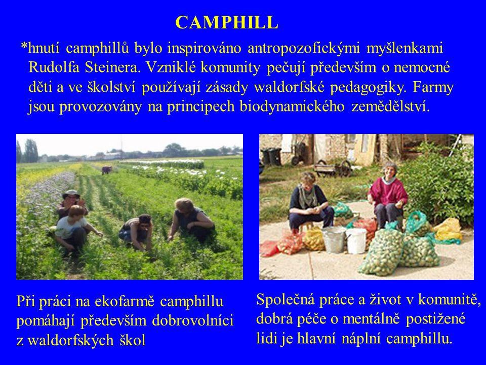 CAMPHILL *hnutí camphillů bylo inspirováno antropozofickými myšlenkami