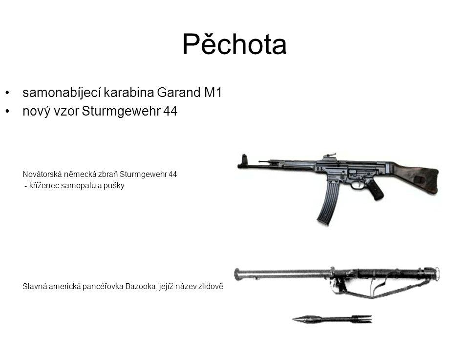Pěchota samonabíjecí karabina Garand M1 nový vzor Sturmgewehr 44