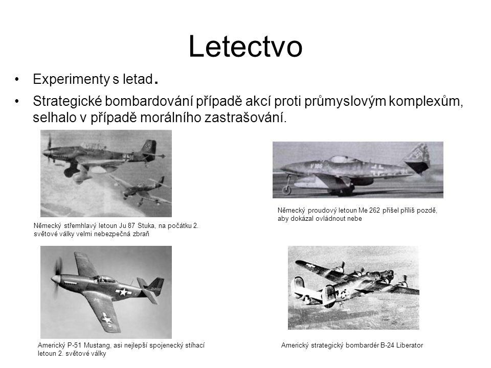 Letectvo Experimenty s letad.