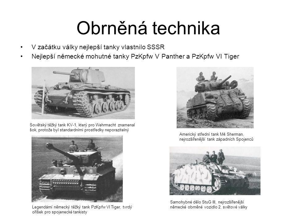 Obrněná technika V začátku války nejlepší tanky vlastnilo SSSR