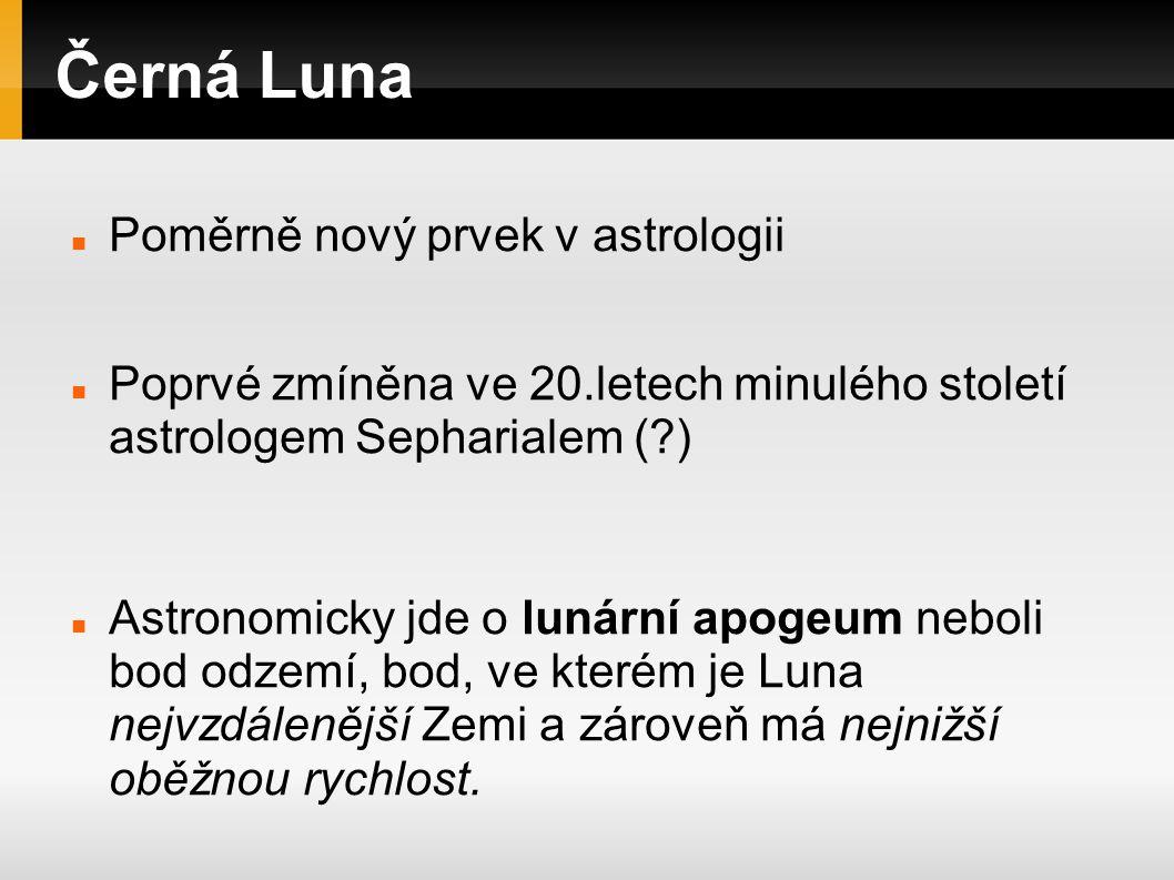 Černá Luna Poměrně nový prvek v astrologii