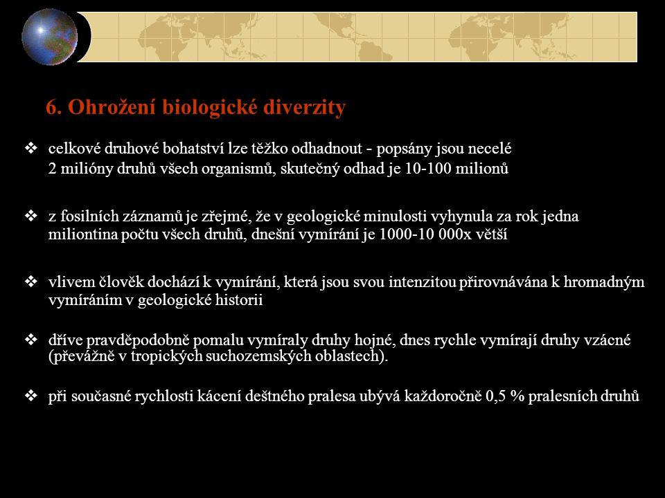 6. Ohrožení biologické diverzity