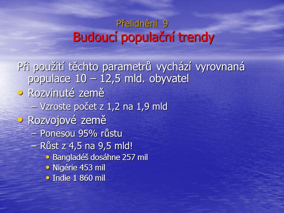 Přelidnění 9 Budoucí populační trendy