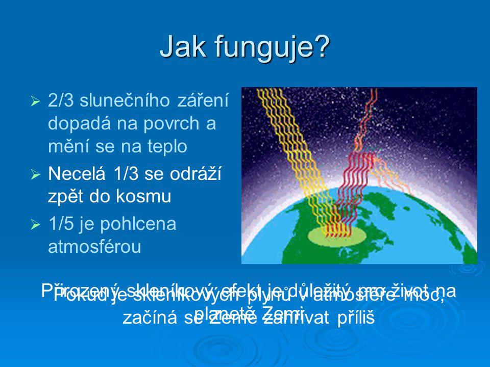 Přirozený skleníkový efekt je důležitý pro život na planetě Zemi