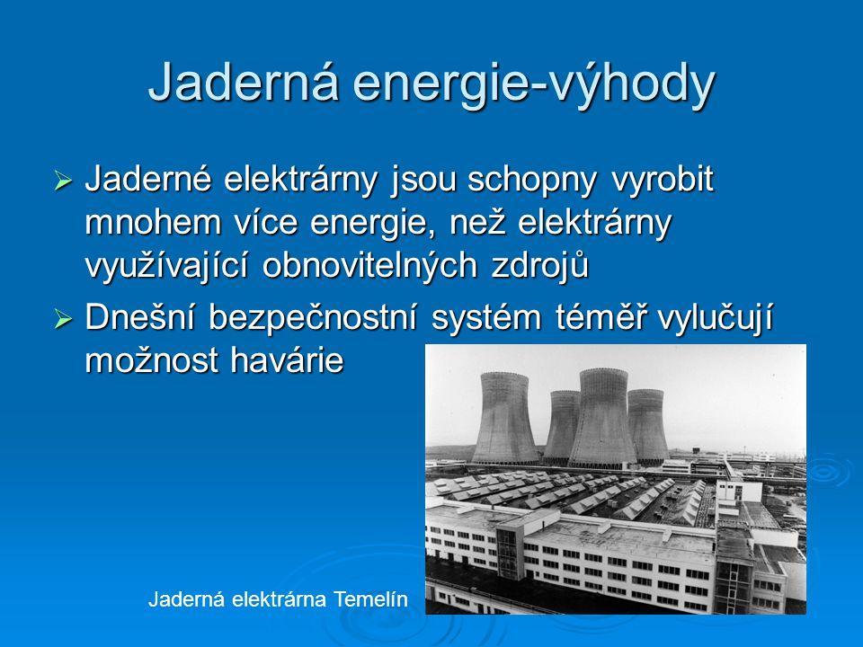 Jaderná energie-výhody