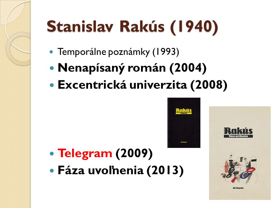 Stanislav Rakús (1940) Nenapísaný román (2004)