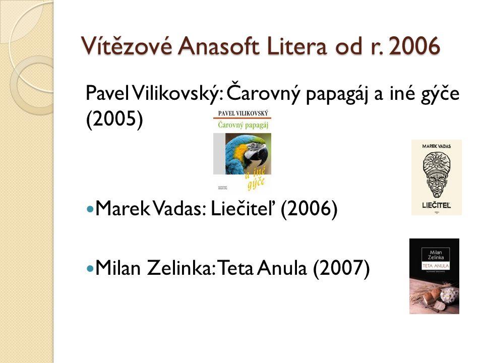 Vítězové Anasoft Litera od r. 2006