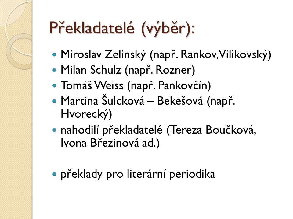 Překladatelé (výběr):