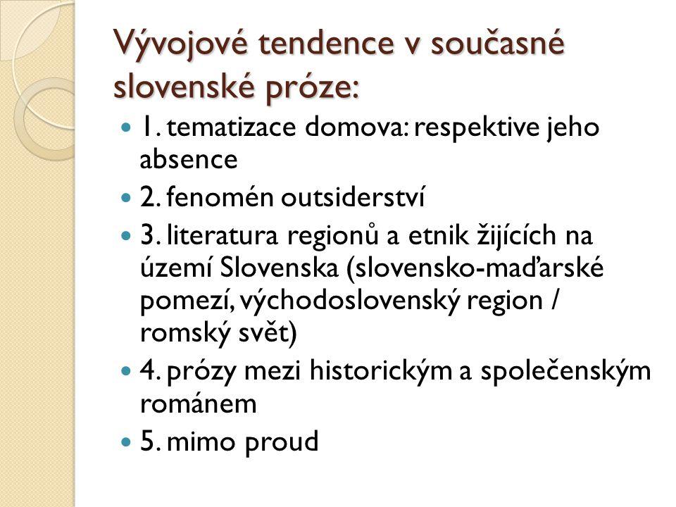 Vývojové tendence v současné slovenské próze: