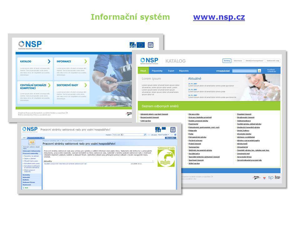 Informační systém www.nsp.cz