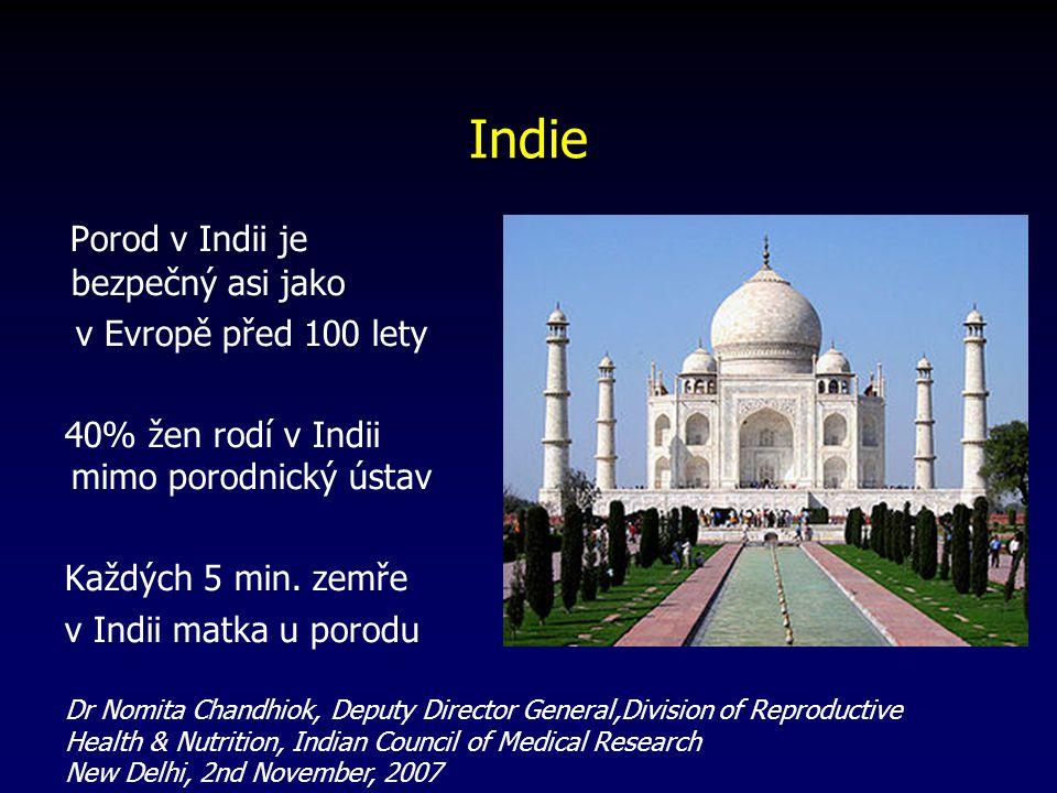 Indie Porod v Indii je bezpečný asi jako v Evropě před 100 lety