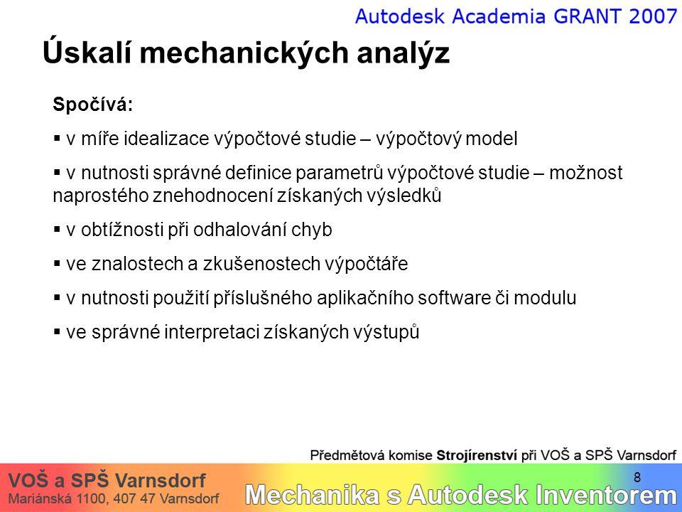 Úskalí mechanických analýz