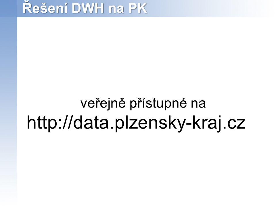 Řešení DWH na PK veřejně přístupné na http://data.plzensky-kraj.cz
