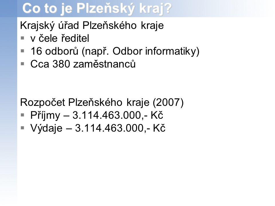 Co to je Plzeňský kraj Krajský úřad Plzeňského kraje v čele ředitel