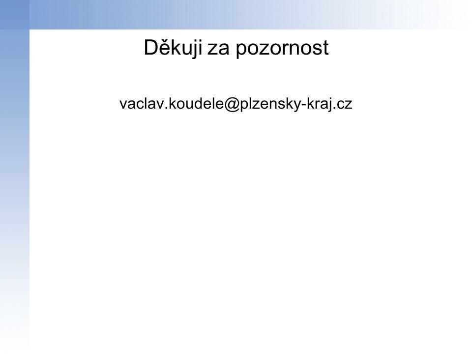 Děkuji za pozornost vaclav.koudele@plzensky-kraj.cz