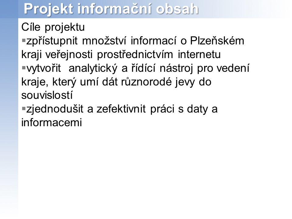 Projekt informační obsah