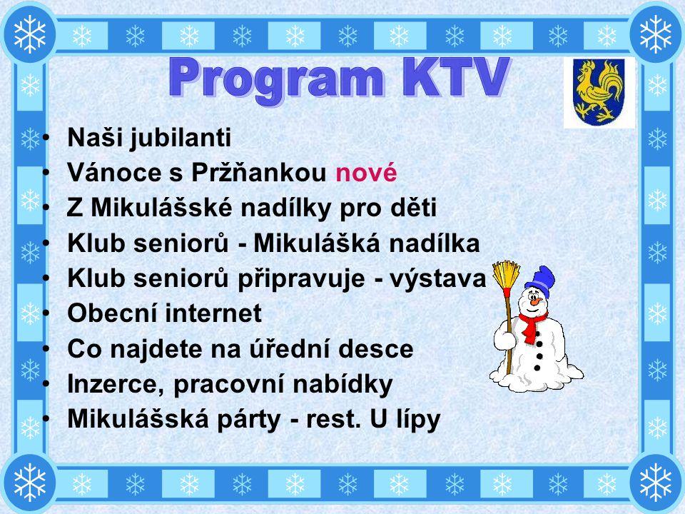 Program KTV Naši jubilanti Vánoce s Pržňankou nové