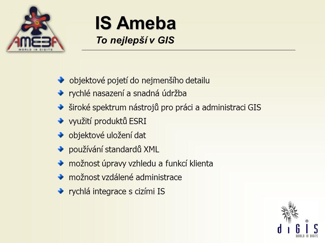 IS Ameba To nejlepší v GIS objektové pojetí do nejmenšího detailu