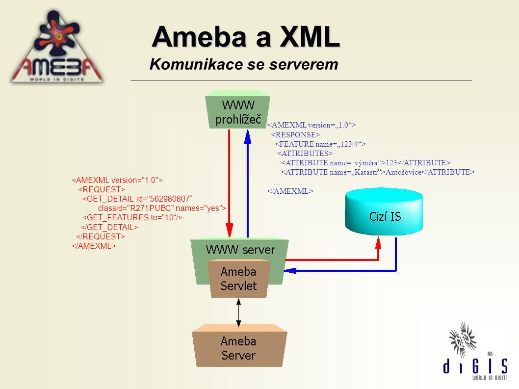 """Ameba a XML Komunikace se serverem <AMEXML version=""""1.0 >"""