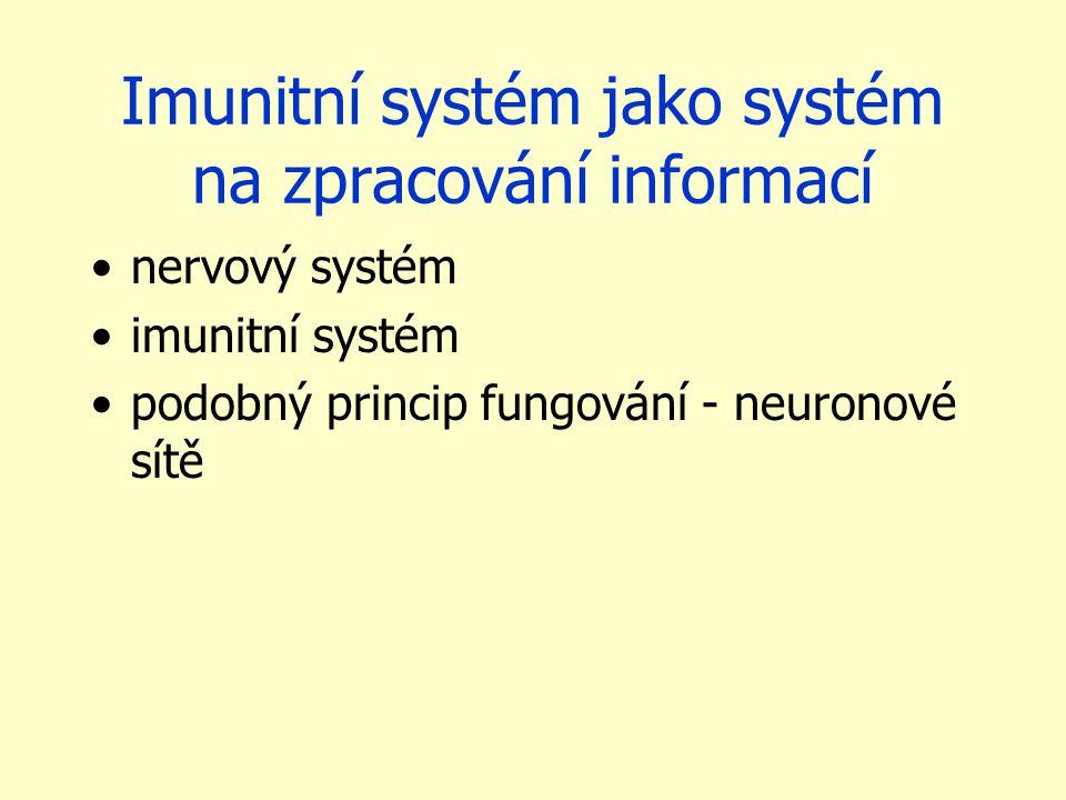 Imunitní systém jako systém na zpracování informací