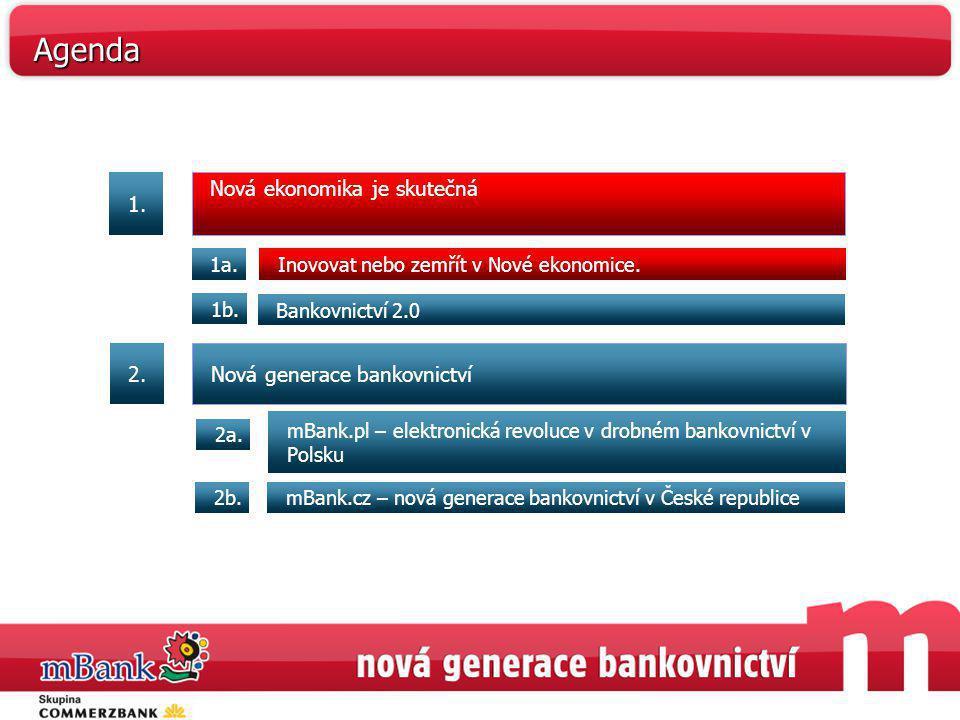 Agenda 1. Nová ekonomika je skutečná 2. Nová generace bankovnictví 1a.