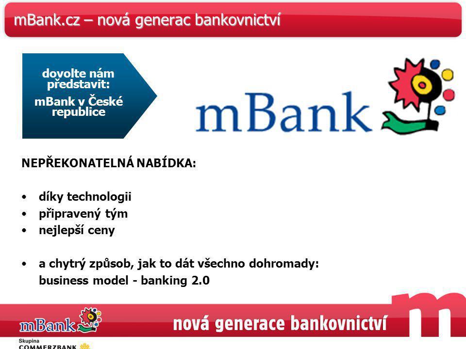 mBank.cz – nová generac bankovnictví