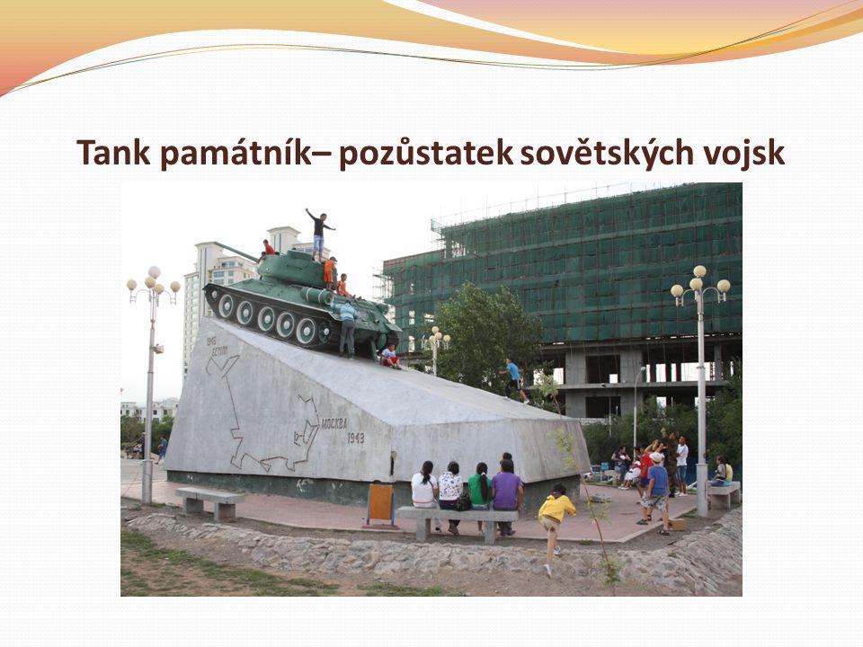 Tank památník– pozůstatek sovětských vojsk