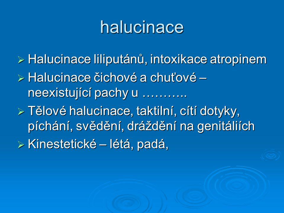 halucinace Halucinace liliputánů, intoxikace atropinem