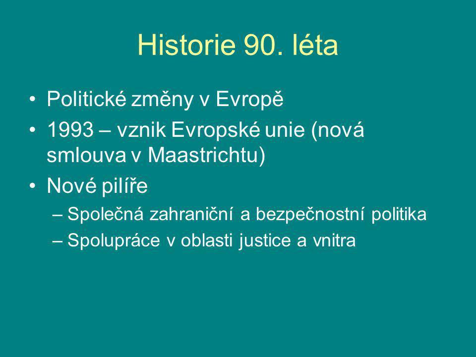 Historie 90. léta Politické změny v Evropě