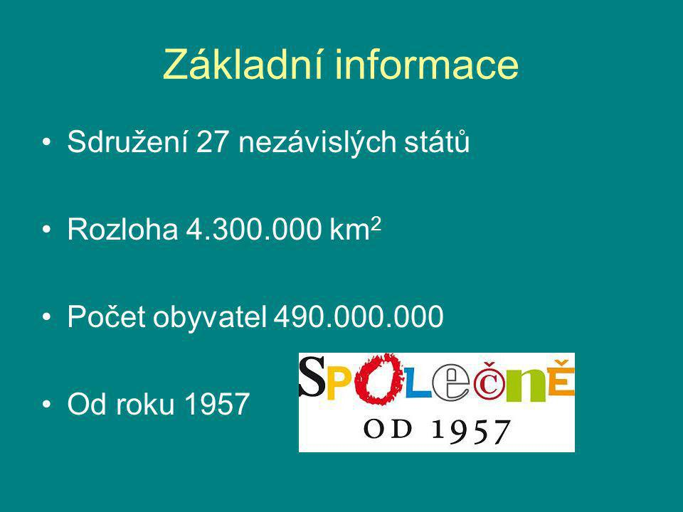 Základní informace Sdružení 27 nezávislých států Rozloha 4.300.000 km2