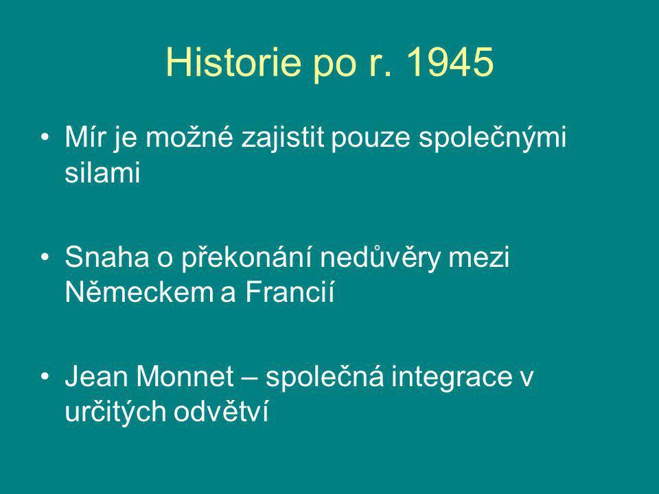 Historie po r. 1945 Mír je možné zajistit pouze společnými silami