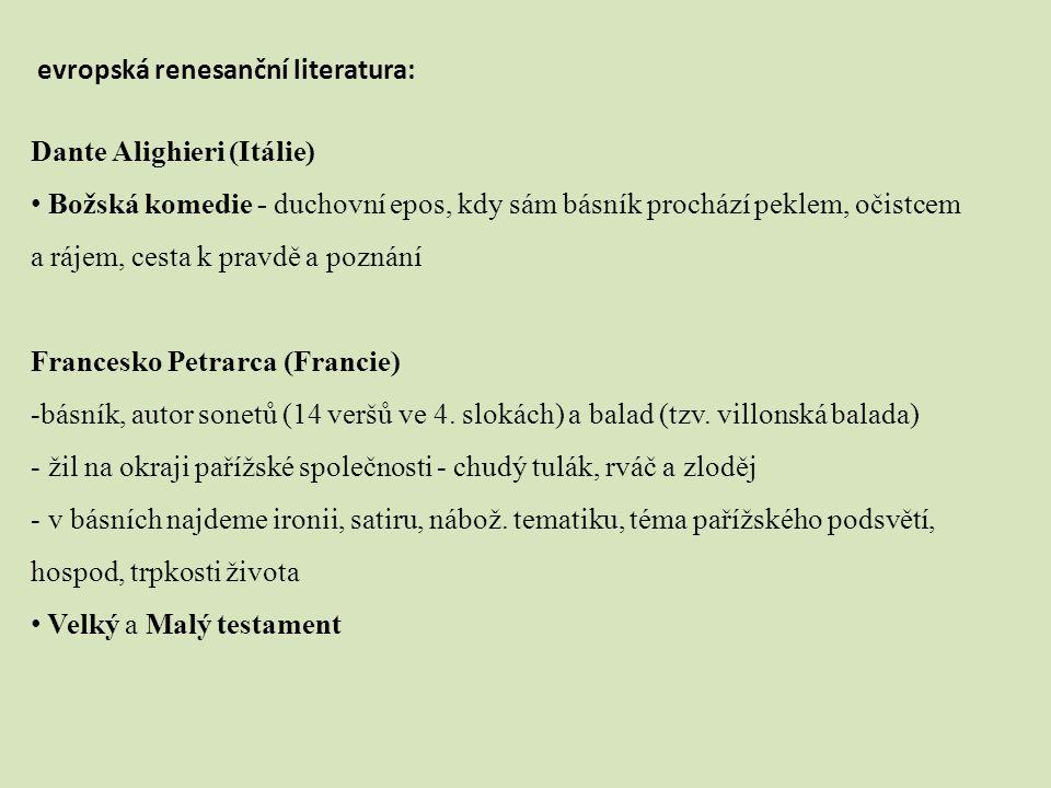 evropská renesanční literatura: