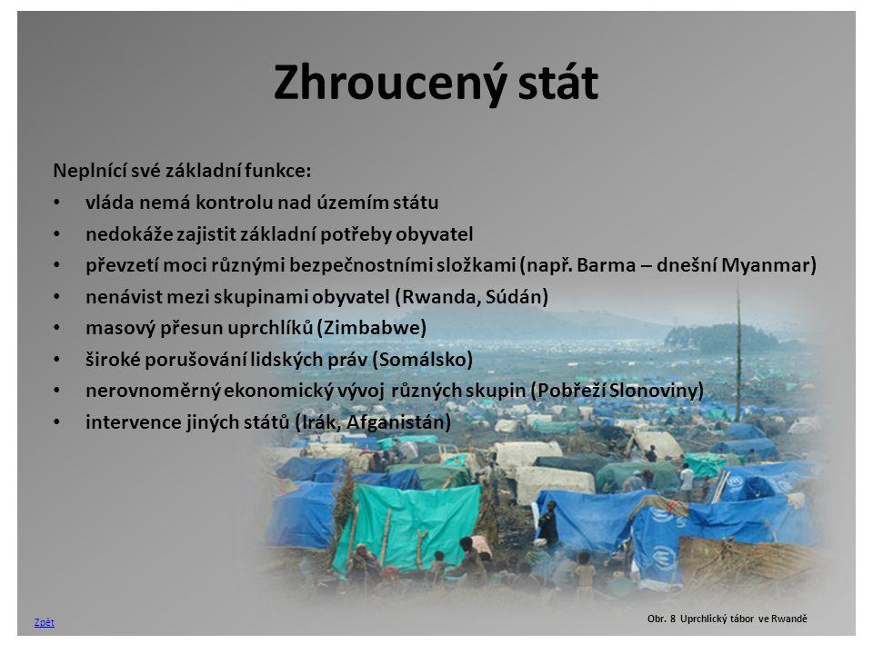 Obr. 8 Uprchlický tábor ve Rwandě