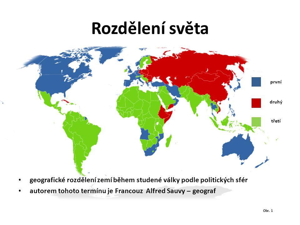 Rozdělení světa první. druhý. třetí. geografické rozdělení zemí během studené války podle politických sfér.