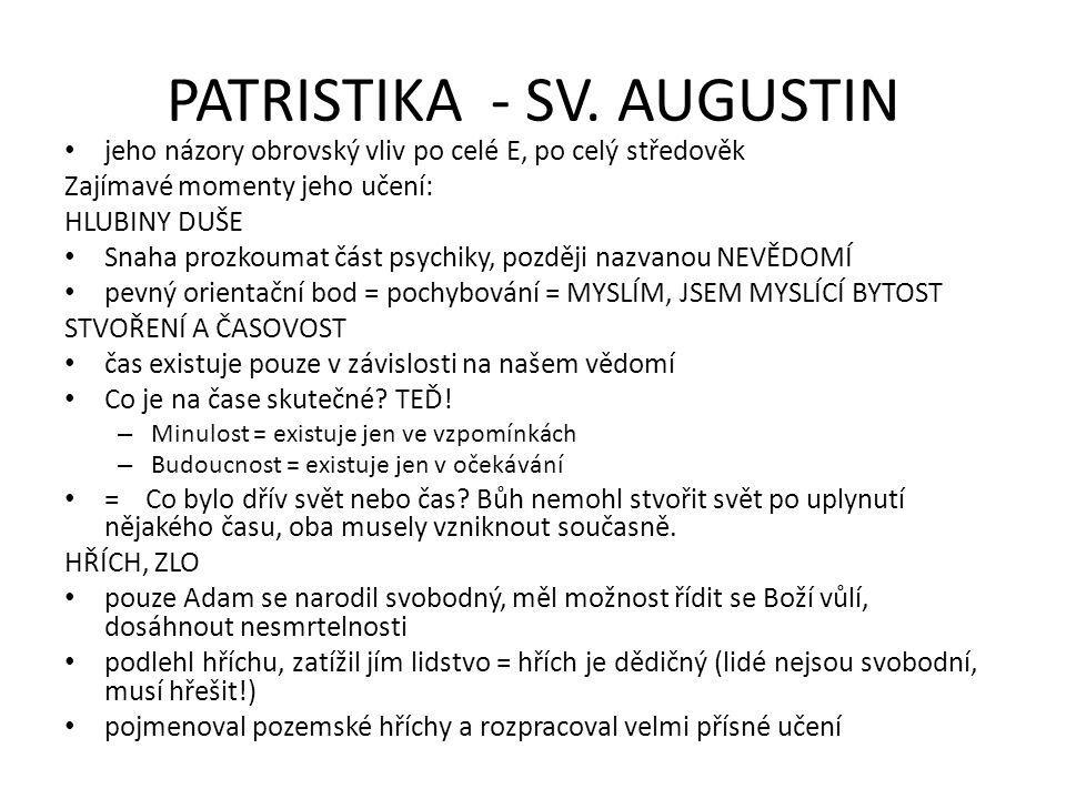 PATRISTIKA - SV. AUGUSTIN