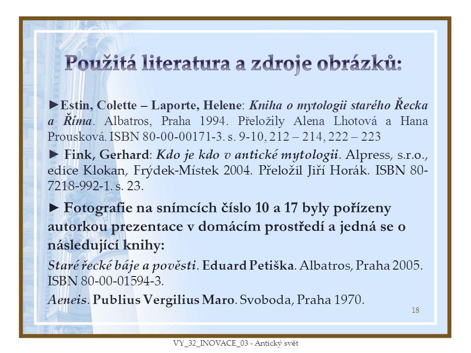 Použitá literatura a zdroje obrázků: