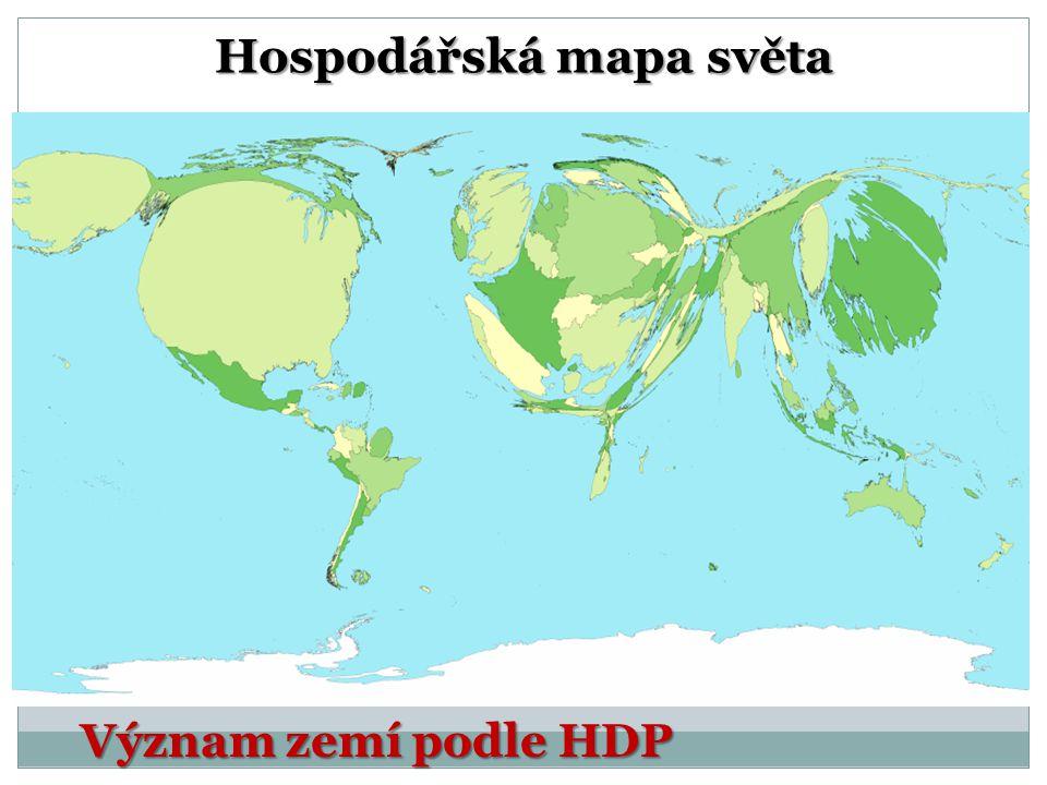 Hospodářská mapa světa