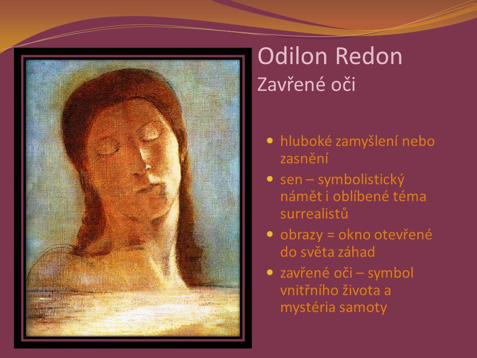 Odilon Redon Zavřené oči