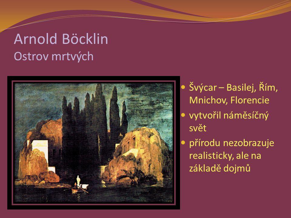 Arnold Böcklin Ostrov mrtvých