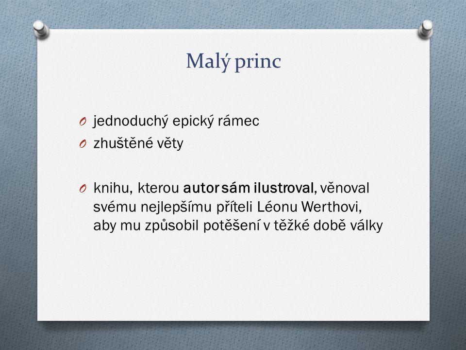 Malý princ jednoduchý epický rámec zhuštěné věty