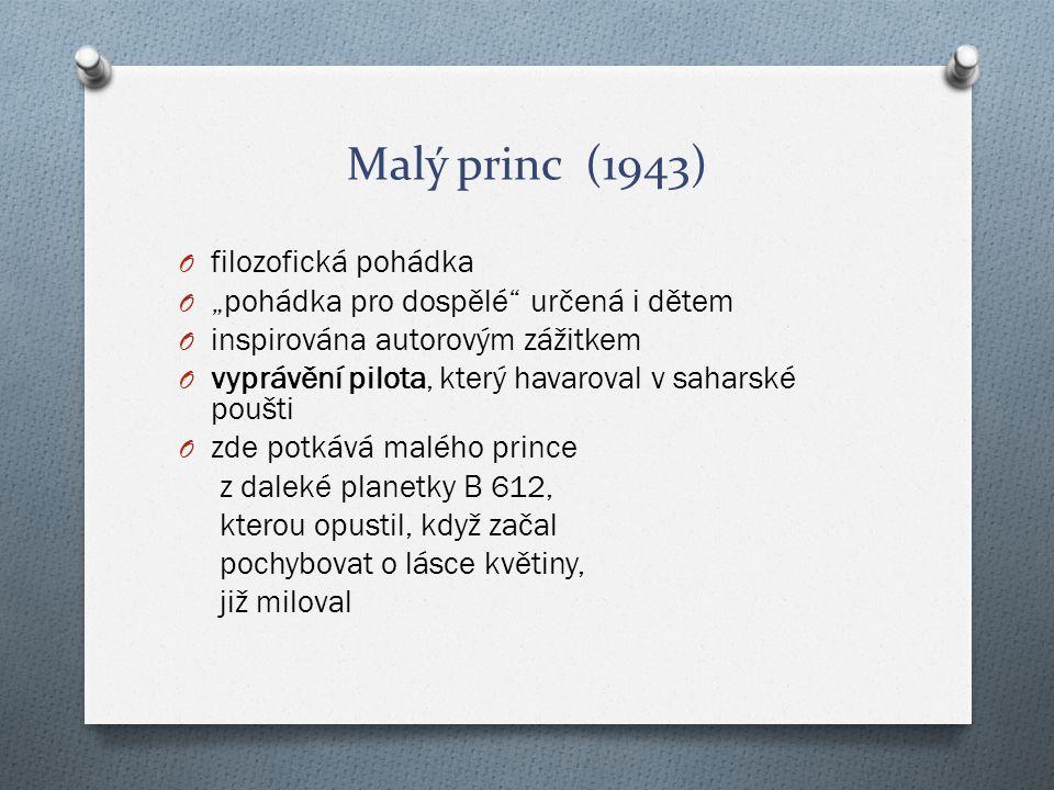Malý princ (1943) filozofická pohádka