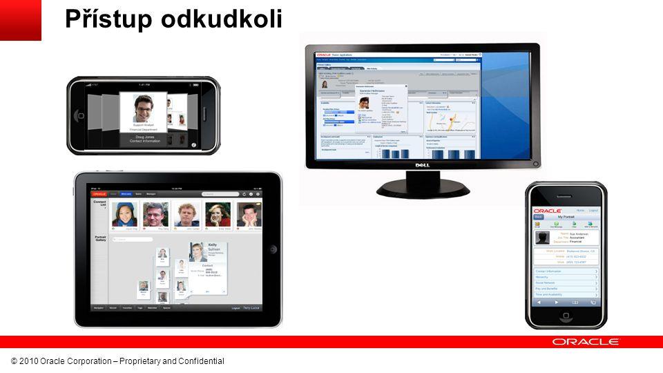 Přístup odkudkoli © 2010 Oracle Corporation – Proprietary and Confidential