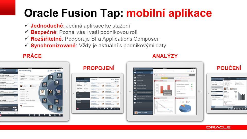 Oracle Fusion Tap: mobilní aplikace