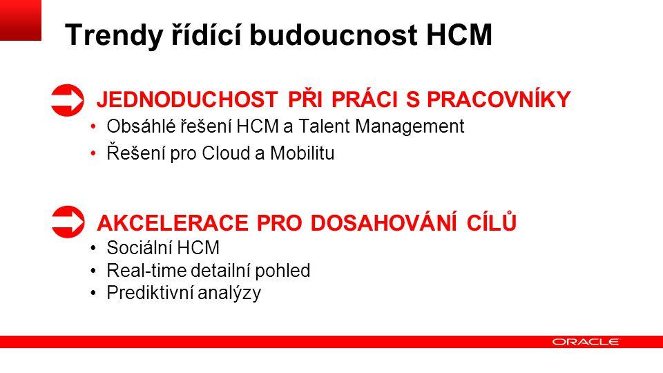 Trendy řídící budoucnost HCM