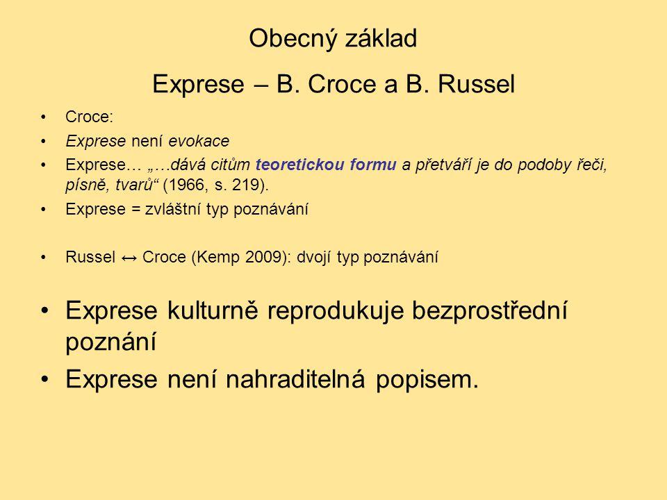 Obecný základ Exprese – B. Croce a B. Russel