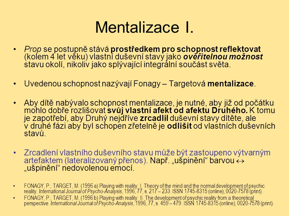Mentalizace I.