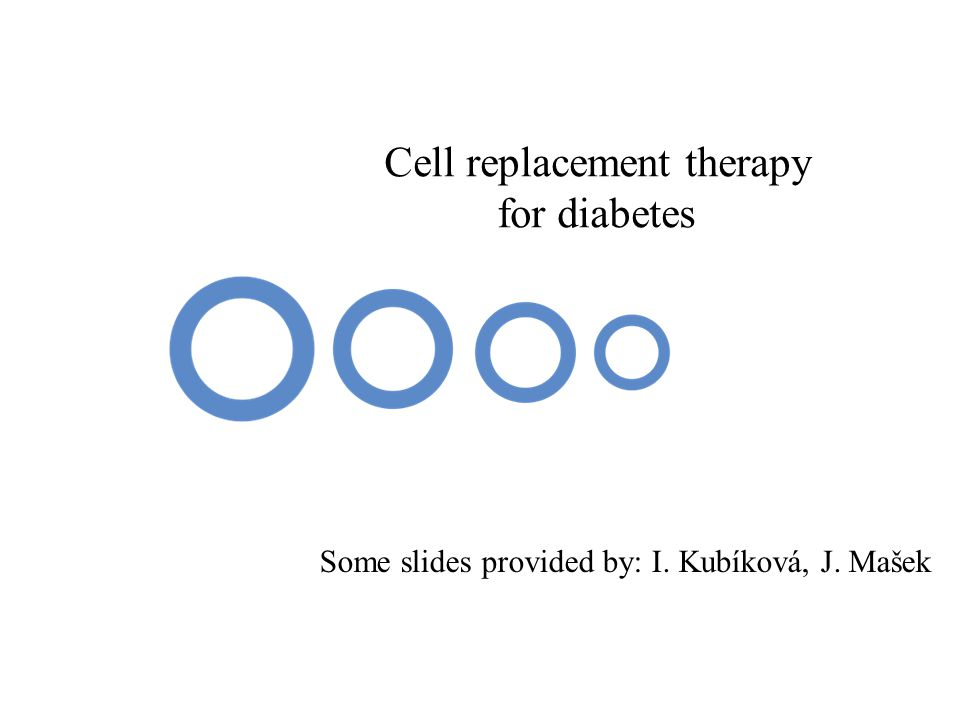 Cell replacement therapy for diabetes